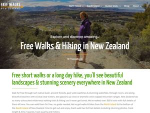 Home page of Freewalks.nz